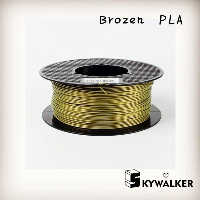 ФОТО 3d filament pla filament 1.75 metal pla bronze color 3d printer filament pla filamento 1kg 3d printer extruder filament -bulb 3d