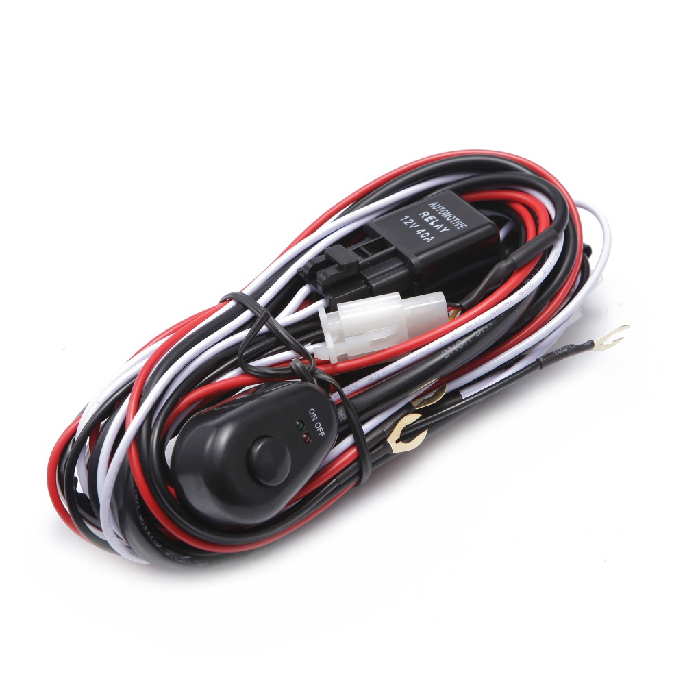 Control 2pcs Light 2 5m Switch Wiring Harness For Off Road Led Work Light 18w 210w 40a 12v 24v Wiring Diagram