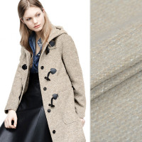 Hot new fabric knit ring wool fashion fabric high quality thick needle wool fabric autumn and winter coat dress clothing cloth