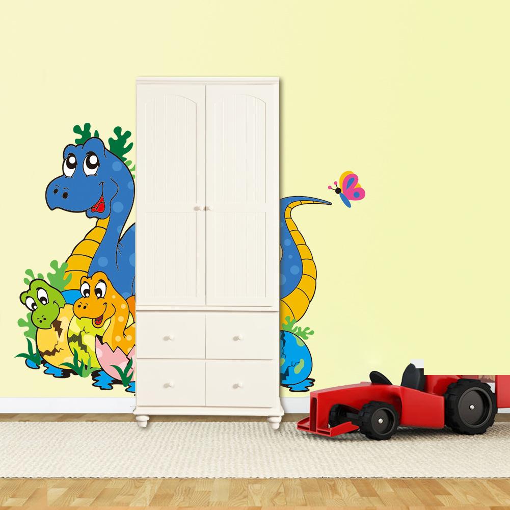 nueva lindo del beb dinosaurio nios kids room dormitorio vivero decoracin de la puerta pegatinas de