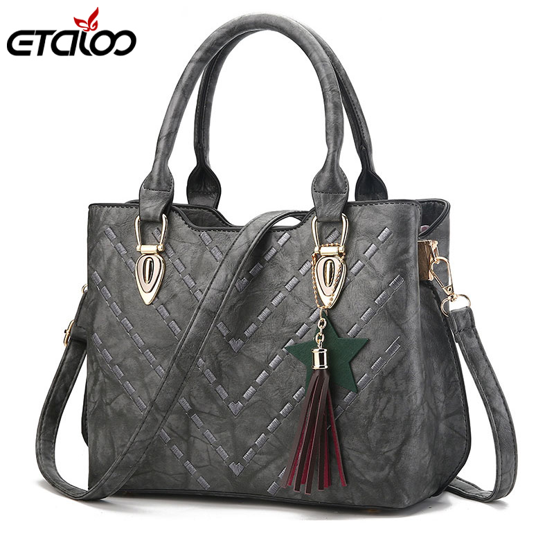 2018 autumn and winter new women's bags Europe and the United States fashion ladies handbags shoulder line bag autumn and winter new ladies genuine