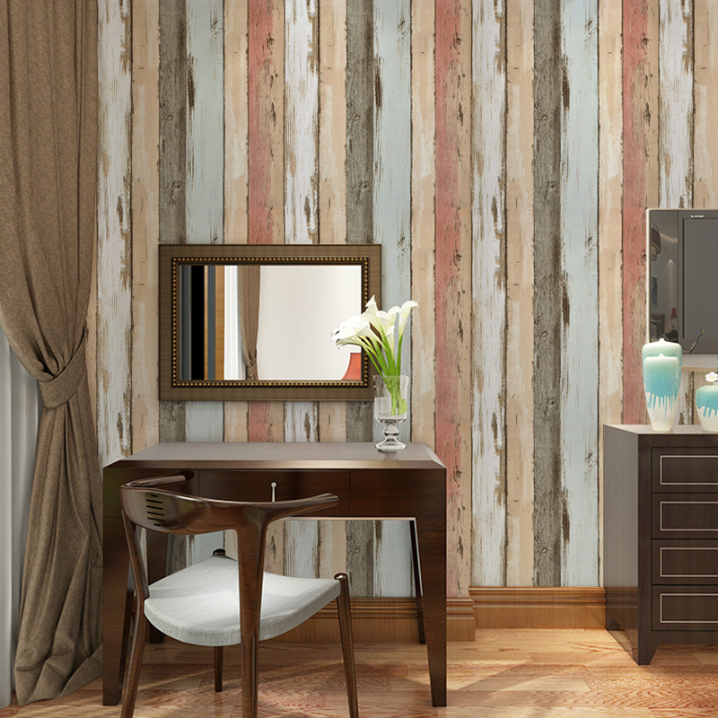 Painting Supplies & Wall Treatments Wallpapers Colomac Europe Pastoral 3d Non-woven Embossed Wallpaper Roll Living Room Waterproof Sofa Tv Background Decor Pattern Wall Paper