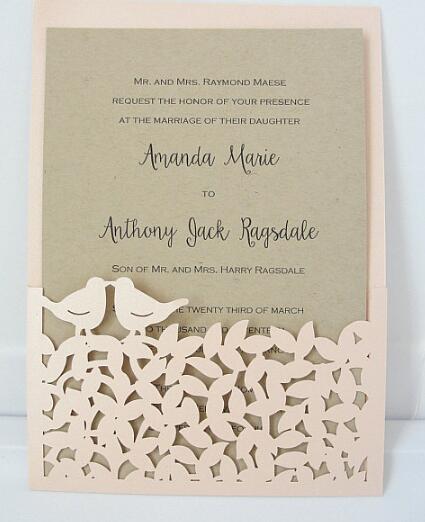 25pieces Laser Cut Wedding Invitation,Birthday/Engagement/Graduation - invitations graduation