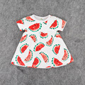Baby Clothing Fruits Watermelon Pineapple Pattern Dresses for Toddler Girls short Sleeve Baby Dress Floral Sundress