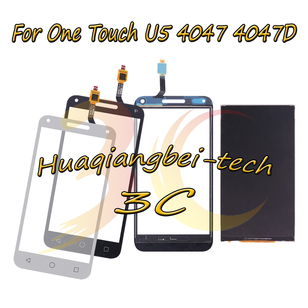 5.0'' New Black / White For Alcatel One Touch U5 3G OT4047 4047 4047D Full LCD DIsplay + Touch Screen Digitizer 100% Tested