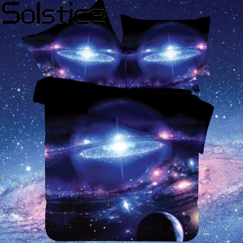 Solstizio Tessili Per La Casa Galaxy Universo Spazio Esterno A Tema 2 pz/3 pz/4 pz Letto Copriletto Biancheria da Letto foglio di Set Copripiumino Federa