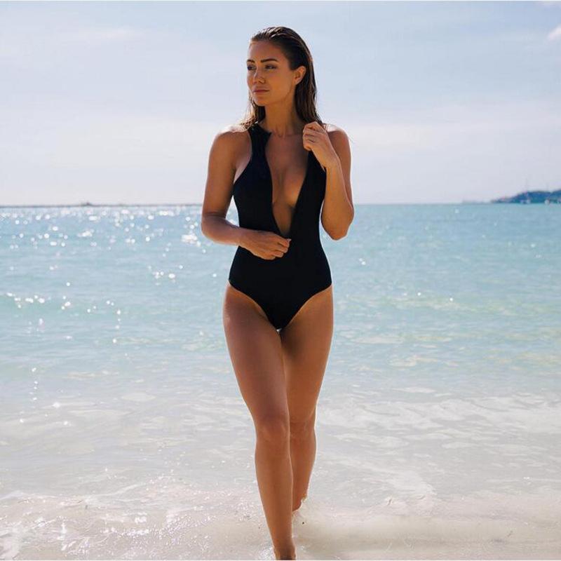 HTB1sR3JRVXXXXbbXpXXq6xXFXXXy - Sexy Red Swimwear Women Zipper Swimwear One Piece JKP011