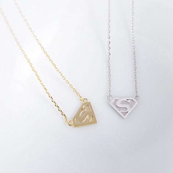 2014-Fashion-18k-Gold-Silver-Super-S-Logo-Necklace-Free-Shipping