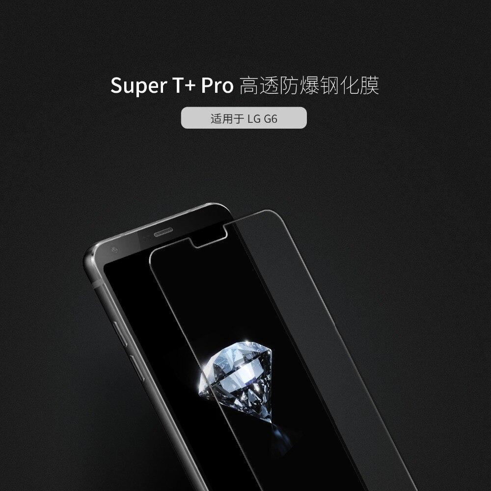 imágenes para 9 h vidrio templado para el lg g6 super t + pro protector de pantalla para lg g6 g 6 teléfono protector protector de la película de vidrio de cristal + paquete al por menor