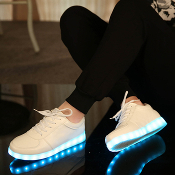 USB Charger Glowing Luminous Sneakers Feminino Baskets with Light Sole Children Led Slippers for Boy&Girl Light Up Shoes 2