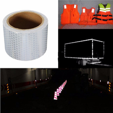 ФОТО 3mx5cm auto car truck vehicle reflective self-adhesive safety warning conspicuity roll tape film sticker decal a gift to driver