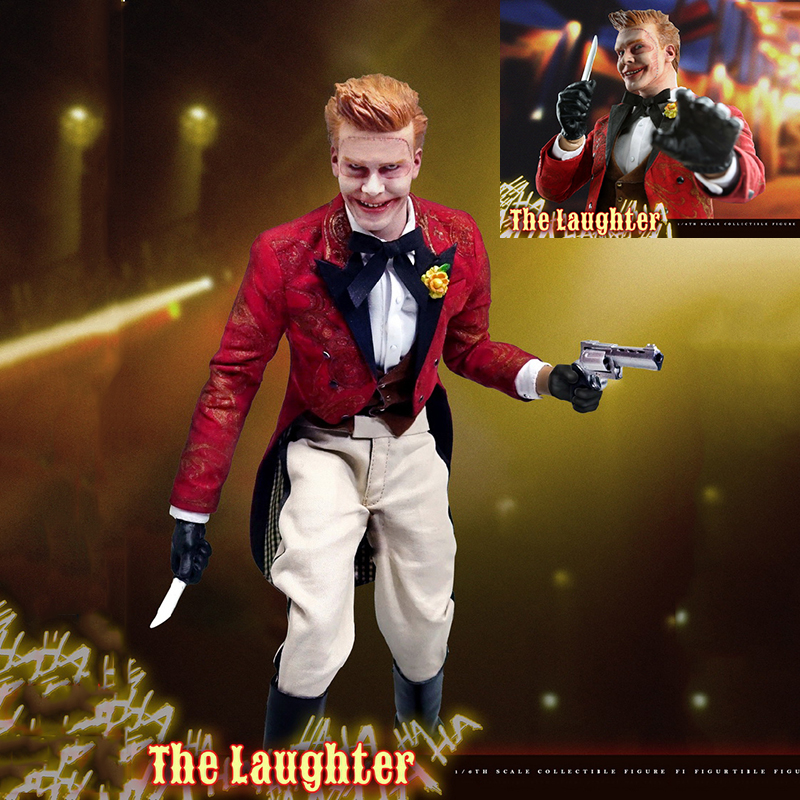 1/6 Scale Action Figure Joker The Laughter (Gotham) Set With Movable Eyes Model Toys Christmas Halloween Gift for Boys Kids 1 6 scale full set soldier the lord of the rings elven prince legolas action figure toys model for collections
