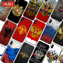 KUZI Russian Flag Print Luxury Case For IPhone X XS 8 7 6 6s Plus Soft TPU Silicone Cover Coque Iphone plus 2019 New Arrivals