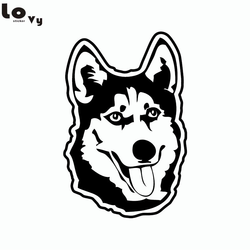 Husky Dog Siberian Malamute car window sticker art decal vinyl stickers