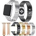 Ремешок для часов Apple Watch  4 ремешка 40/44 мм  роскошный браслет из нержавеющей стали  ремешок для iwatch 4  узор в виде рыбьей чешуи с коннекторами