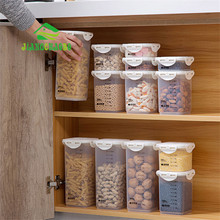 e13768b00656 JiangChaoBo Scaled Grain Sealed Cans Kitchen Food Storage Tank Plastic  Dried Fruit Storage Cans Snack Storage
