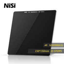 NiSi Nd32000 150*150mm Filter Square Grey Filters Optical Glass Square Neutral Density Filter 15 Stops