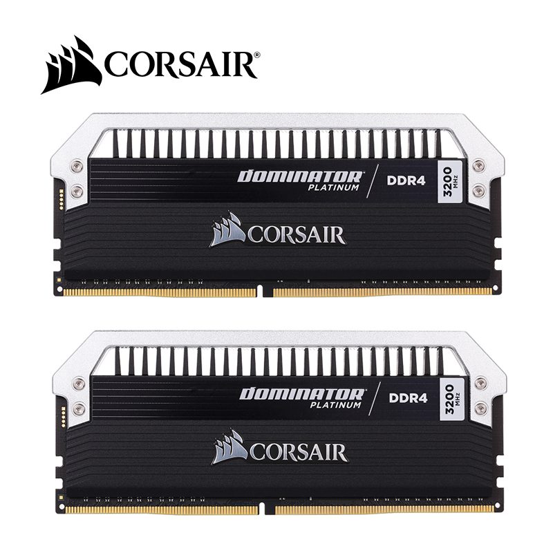 Corsair 16GB 2 8GB DDR4 RAMs Dominator Platinum Series 3200MHz C16 PC4 25600 288 Pin Memory