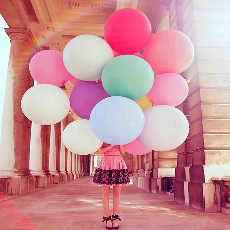 36 inch/96cm 1pcs Super Large  Matte Latex balloon Float air balls inflatable wedding birthday party decoration toys