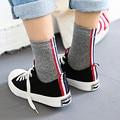 Com complte padrões de MADEIRA agulha meias de algodão homens 200 coringa vermelho Japonês, branco e azul bar TB meias 5 pares
