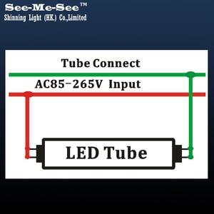 Image 5 - 10 قطعة/الوحدة 2ft 600 مللي متر 4ft 1200 مللي متر 20W 32W 288 قطعة led رقائق/PCS AC85 265V صف مزدوج رقاقة T8 led أنبوب