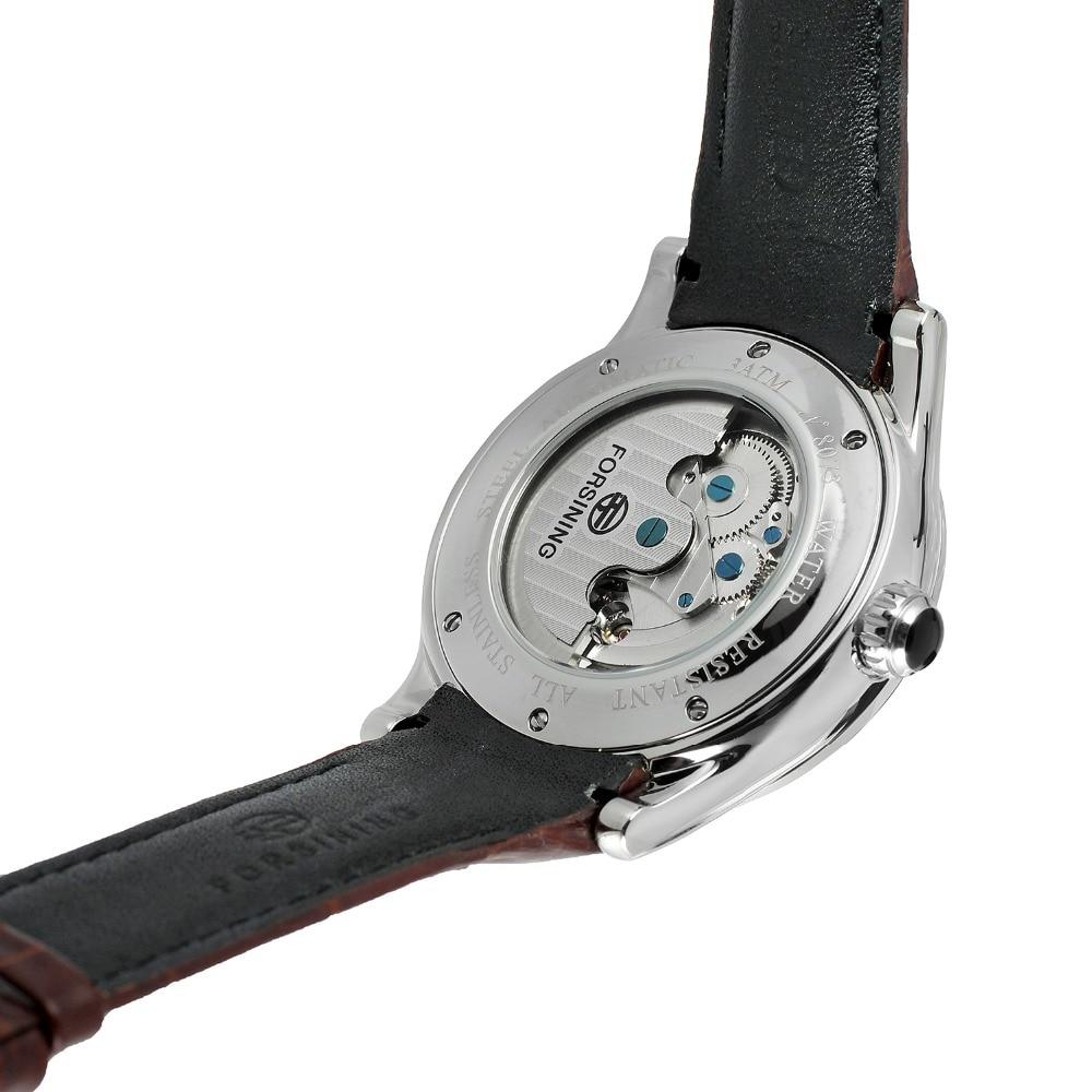FORSINING hommes marque de luxe mouvement automatique boîte en acier inoxydable carte du monde cadran montre-bracelet Design de mode montre FSG9413M3 - 6
