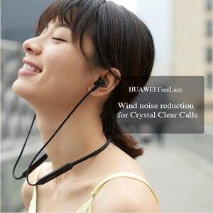 Image 3 - Huawei FreeLace אלחוטי אוזניות Bluetooth ספורט עמיד למים ב אוזן זיכרון כבל מתכת חלל מתג מגנטי