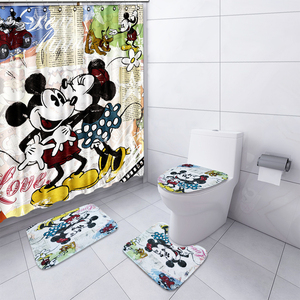 NYAA 4 Pcs Cute Mickey Shower