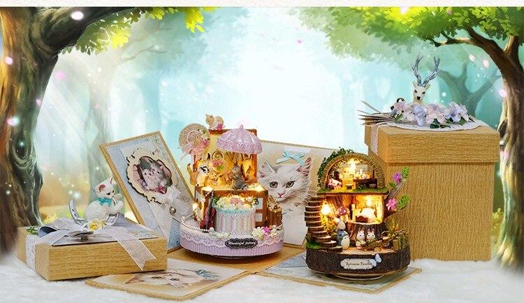 Haus & Garten Musik Boxen Diy Montiert Harz Anime Cottages Musik Box Mein Nachbar Totoro Geburtstag Geschenk Fantasie Wald Süßigkeiten Katze Figur 1 Stück
