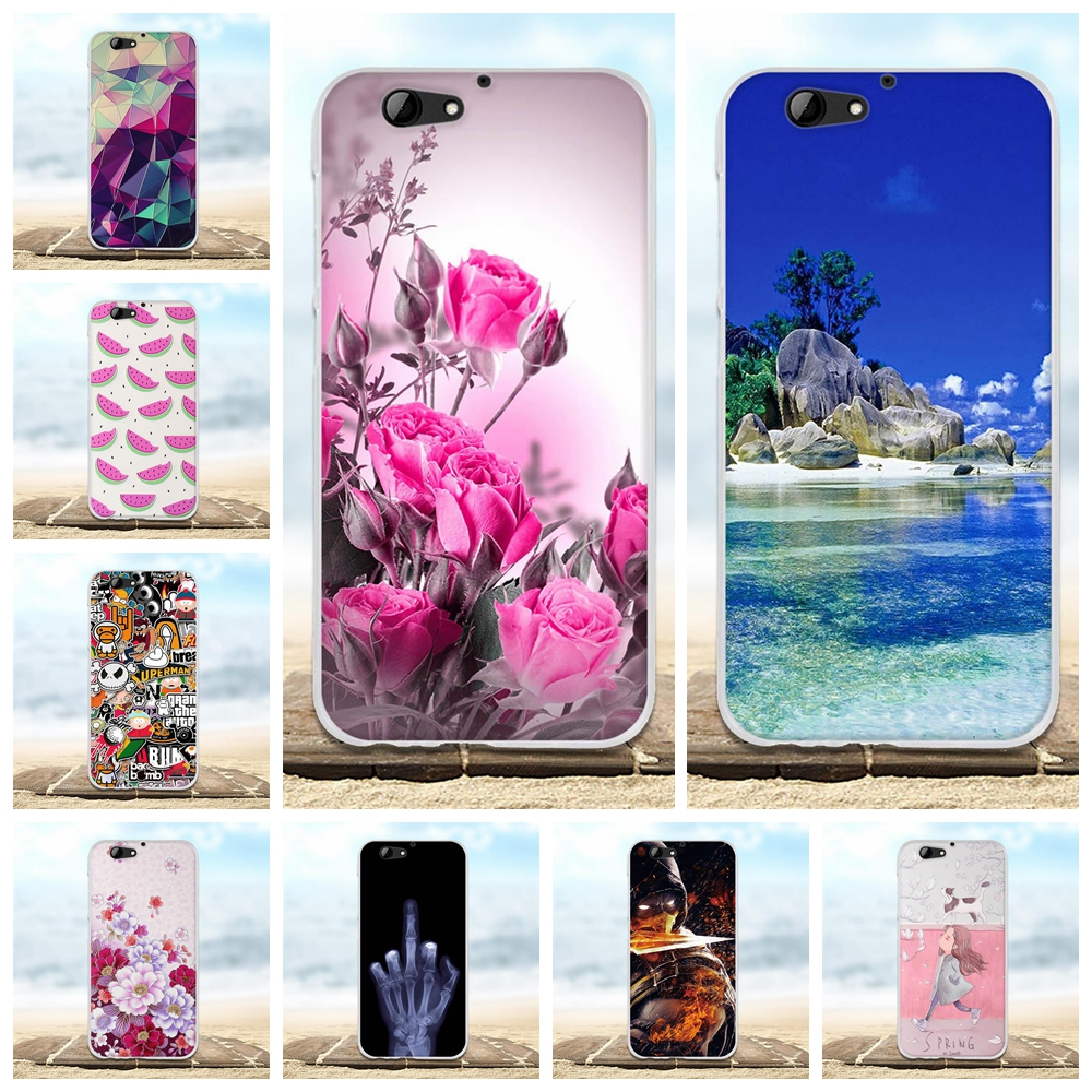 For HTC One A9S Case 5.0' Cover Solicone TPU Silicone Fundas Coque For HTC A9S Case 3D Flower Shell Bags For HTC A9S Phone Cases