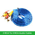 Original 3 RCA To 3 RCA Composite Audio Video AV  1.5M 3M  5M Cable High Quality
