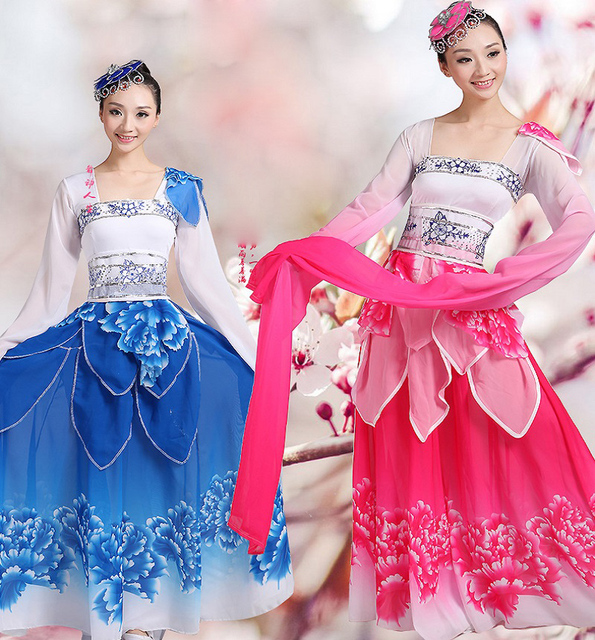 Women Traditional Yangko Dance Costume Female Chinese Modern Classical Fan  Dance Dress Chinese Folk Stage Dance Clothing Sets cc378882e