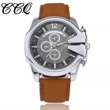 2017 Top Luxury Popular Brand CCQ Watch Men Quartz Silver Watches Men Clock Men's Watch Clock Relogio Masculino