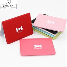 Fashion Women Pu Leather Pocket Business ID Credit Card Holder Cover Package Case Wallet Cards Pack Passport Package Card Bit
