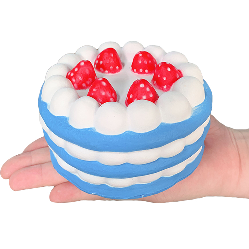 Jumbo Strawberry Cake Squishy Simulation PU Bread Slow Rising Soft Squeeze Toy Sweet Scented For Children Birthday Fun Gift