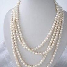"""Горячая распродажа стиль >>>>> ювелирных изделий пресноводного реальный жемчужное ожерелье 7- 8 мм 8"""""""