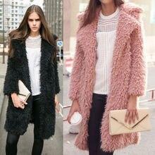 Brand Winter Women Long Sleeve Warm Coats Loose Outwears Solid Womens Casual Outwear
