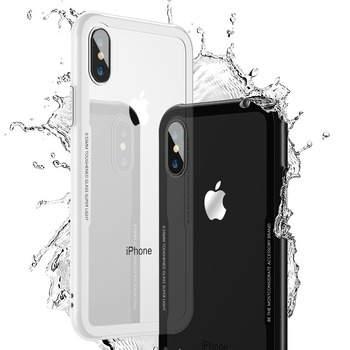 FLOVEME Tempered Glass Phone Case For iPhone X Xs Max Transparent Protective Glass Cases For iPhone Xs XR X Cover Coque Capinhas