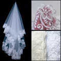 Hot Selling Wedding Accessories Cheap White Ivory Bridal Veils Appliques Edge One Layer birdcage veil Short 2015 In Stock