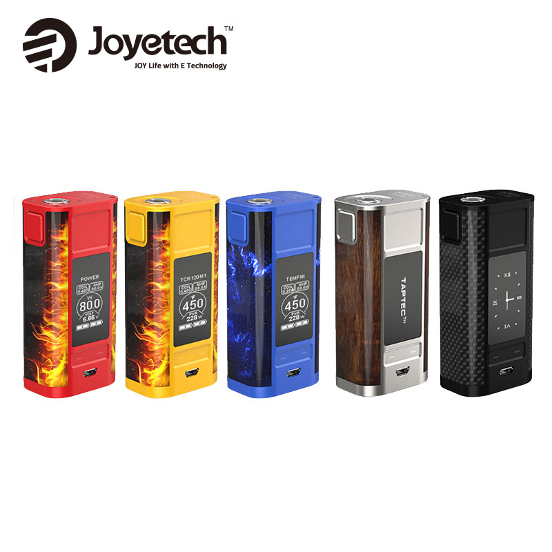 Original Joyetech CUBOID TAP TC MOD 228W &MAX 50A Suit E Cigarette Mod Suitable for ProCore Aries Tank Without 18650 Battery mechanical mod for e cigarette