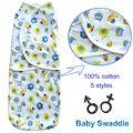2016 new Baby Swaddle Wrap envoltura suave para bebé recién nacido manta Swaddle saco de dormir ropa de cama de bebé