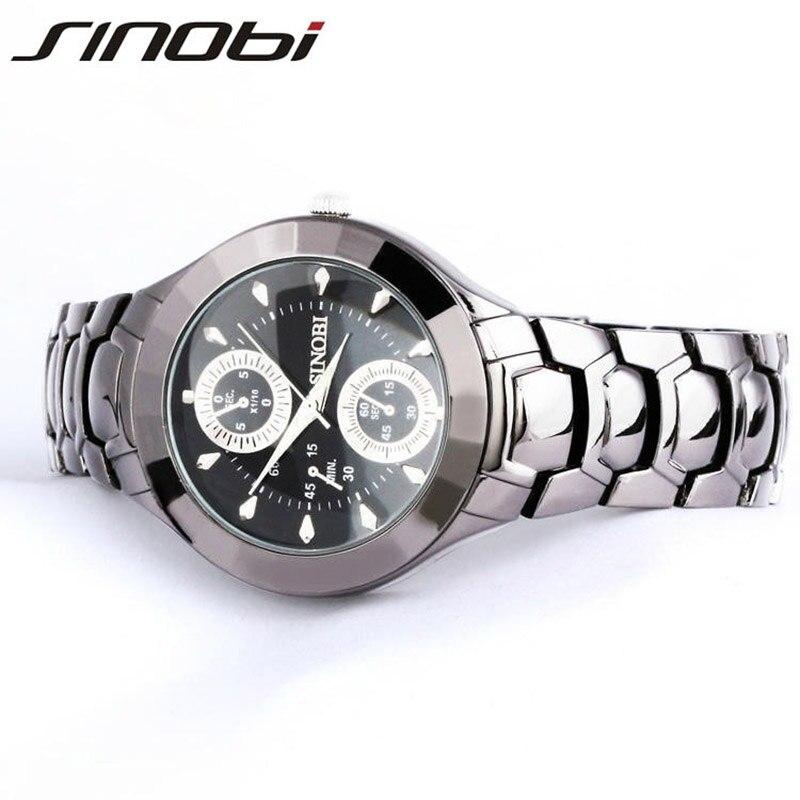SINOBI Women Watch Elegant Brand Famous Luxury Black Quartz Watches Ladies Steel Antique Geneva Wristwatches Relogio 2016 Gift