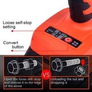 Image 4 - Lomvum 브러시리스 전기 렌치 충격 320n. m 휠 도구 무선 전기 렌치 스크루 드라이버 너트 스패너 자동차 수리 도구