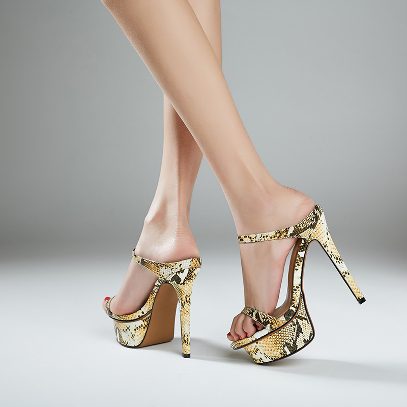 Chaussures Sandales Slippers formes Plates Hauts Réel Open Sandalias En Talons Gold Femmes Slippers Verano Imprimé D'été Toe Pantoufles Cuir De Mujer Para Diapositives silver Serpent xSSZwqC6F