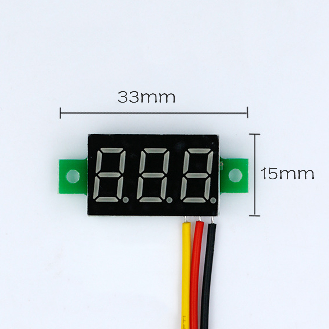 DC 0-100v 3 Bits 0.36 inch Digital Red LED Display Panel Voltage Meter Voltmeter Tester Hot Mini mini voltmeter tester digital voltage test battery dc 0 30v red blue green auto car
