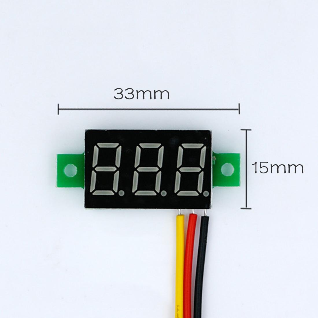 DC 0-100v 3 Bits 0.36 inch Digital Red LED Display Panel Voltage Meter Voltmeter Tester Hot Mini