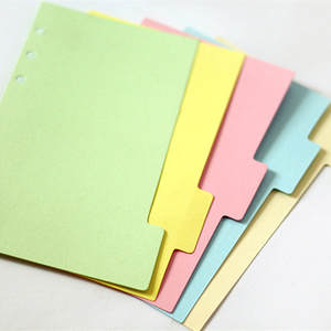 Binder Dividers Notebook Office-Supplies A5 for Loose Shell Dividers/Standard/6-hole/..