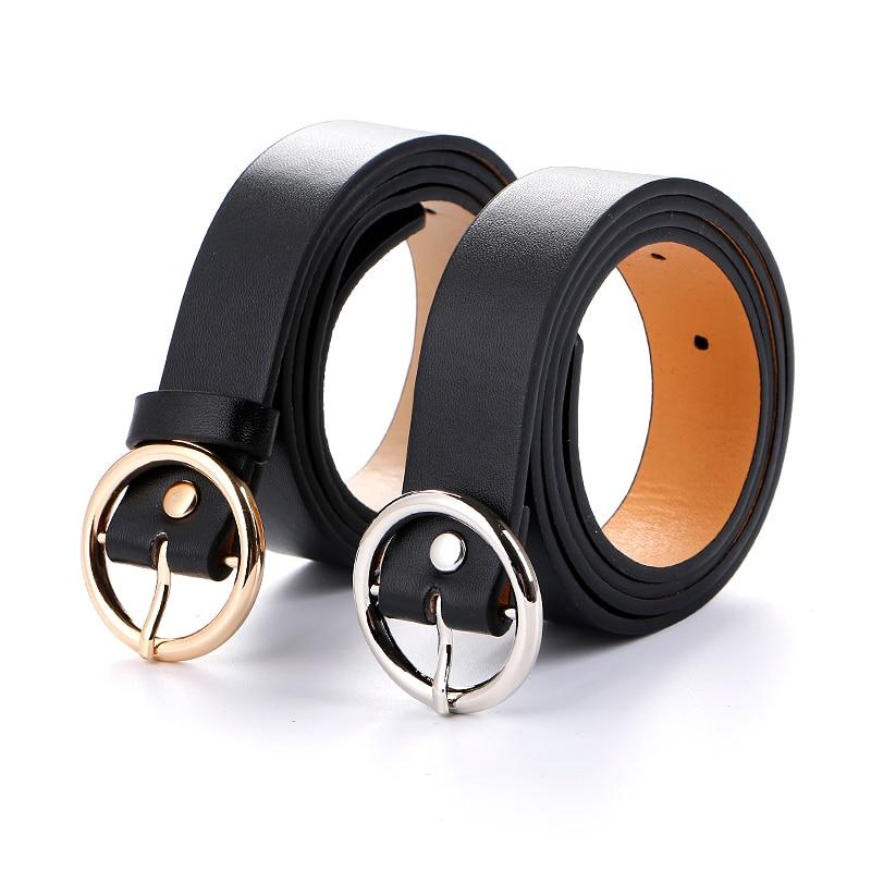 2 Piezas Ni/ñas Damas Mujeres Minimalismo C/ómodo Flaco Cuero de PU Cinturones de Cintura de Moda