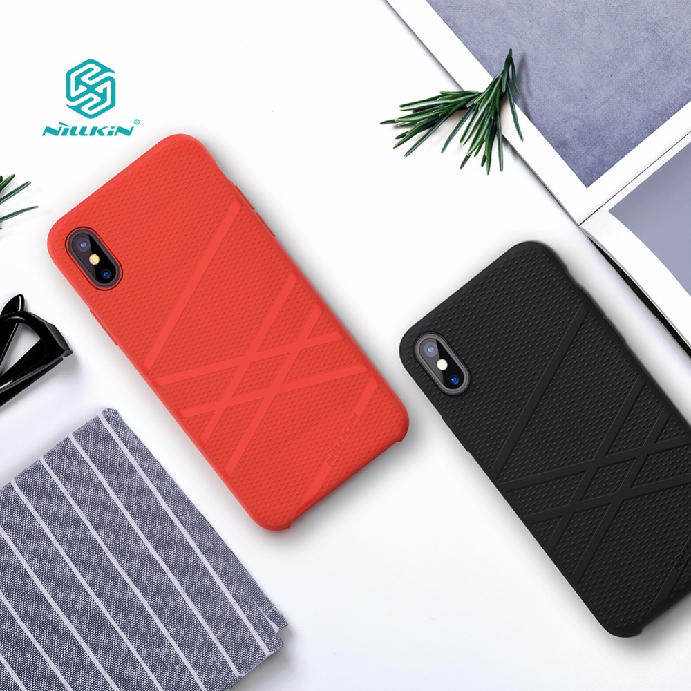 For Iphone X Funda Case Cover 5 8 Inch Nillkin Liquid Thin Silicone Protective Shell Protector