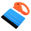 Vinyl Safety Cutter & Felt Edge Squeegee Scraper Kit Vehicle Car Wrapping Tools